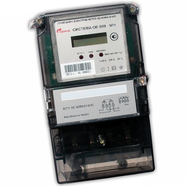 Электросчетчик однофазный Система ОЕ-009