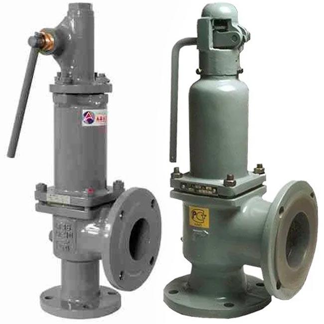 Клапаны предохранительные 17с6нж и 17с17нж РУ16 с ручныи подрывом ДУ50/80-100/150