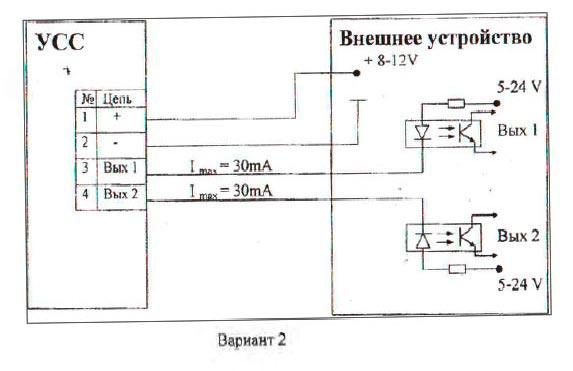 Схема подключения устройства съема сигнала