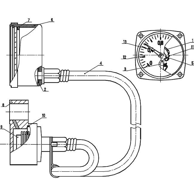 Рисунок 1 - Конструкция манометра МТП-60