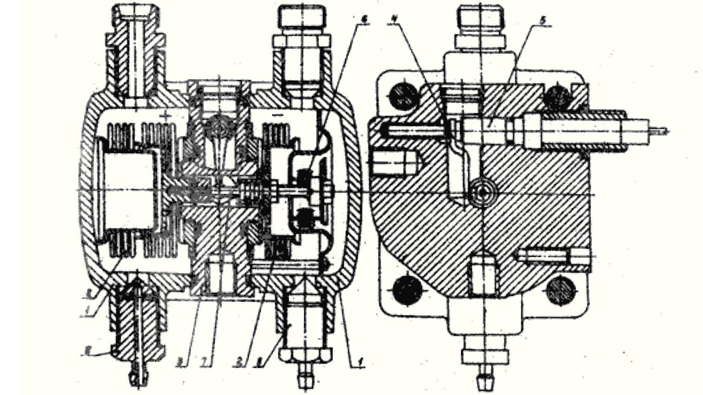 Габаритные и присоединительные размеры дифманометров ДСП-4Сг