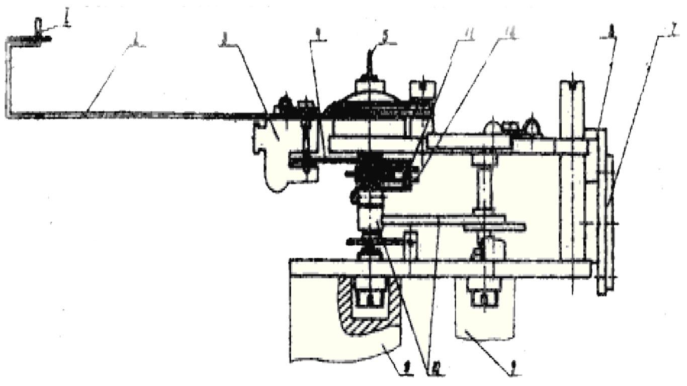 Механизм показывающий части с сигнализирующим устройством дифманометра ДСП-4Сг