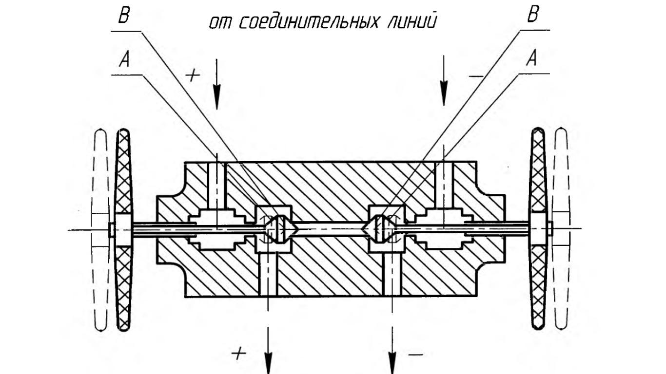 Схема вентеля дифманометра ДСП-4Сг